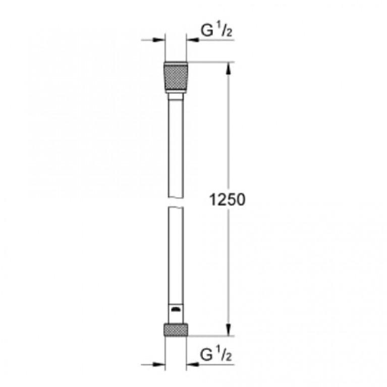 Silverflex Душевой шланг 1250мм (серебро) 28362000
