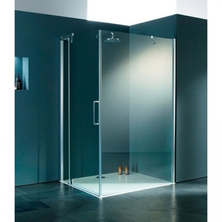 REFRESH PURE стенка боковая для распашной двери 100х204,3 см (проф гл хром, стекло прозр Anti Pl)
