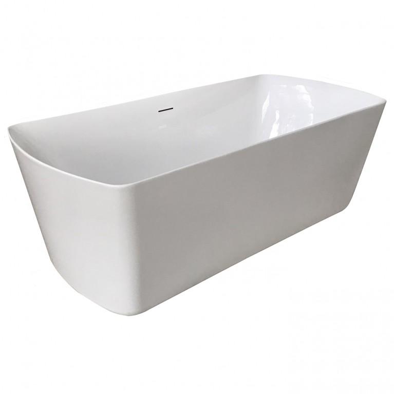 Ванна 1800*850*610мм, отдельно стоящая акриловая, с сифоном