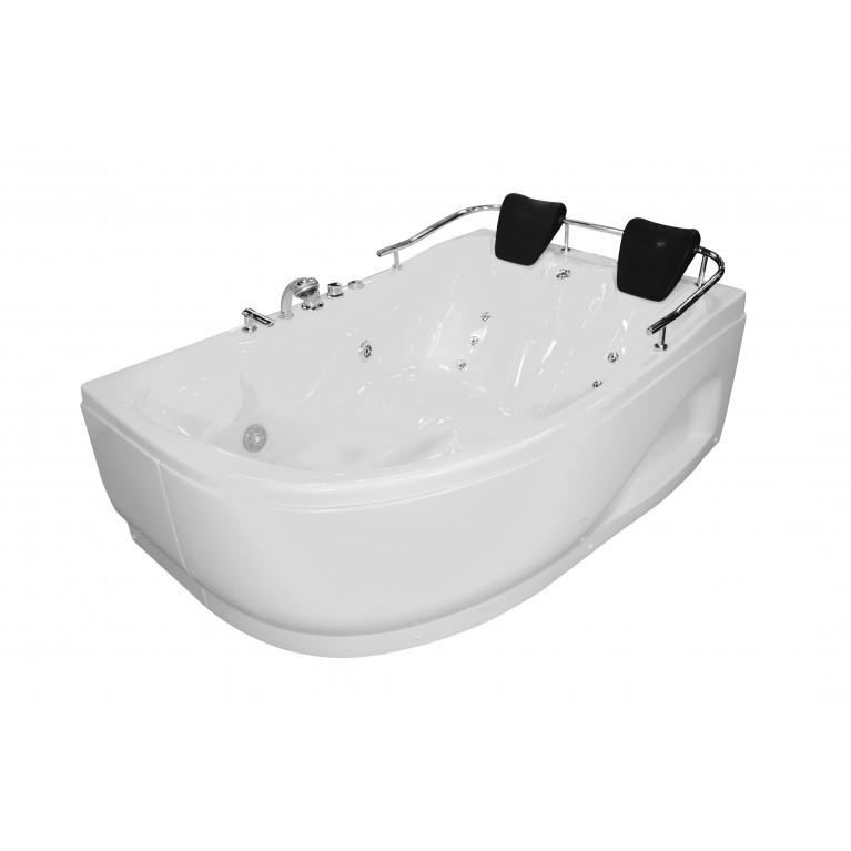 Купить Ванна угловая с гидромассажем и пневмокнопкой 1800*1240*660 мм, правая у официального дилера APPOLLO в Украине