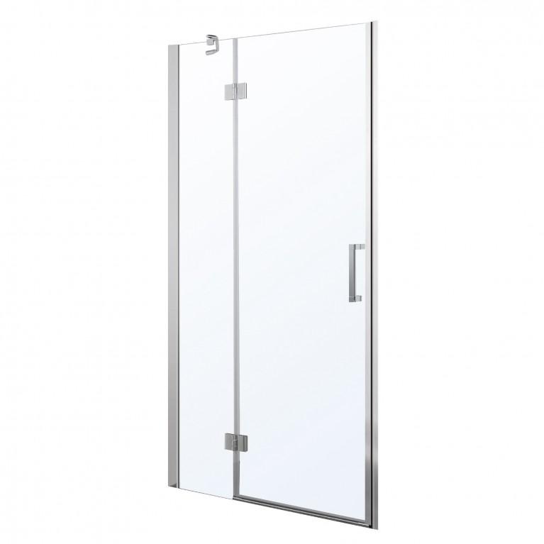 Дверь в нишу распашная на петлях 100*195см, прозрачное стекло 6мм