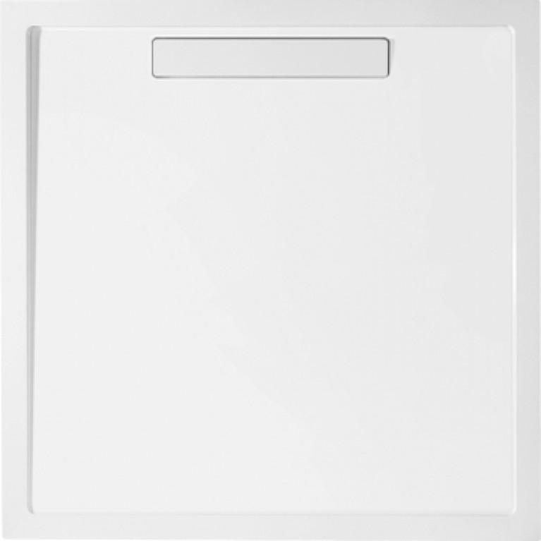 SQUARO Поддон 900*900*18мм квадратный, цвет белый альпин, фото 1