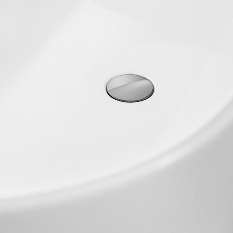 FINION ванна 170*70см, бесшовная,  отдельностоящая, оснащение хром, ф-я Emotion, Design ring, цвет ванны - белый альпин, фото 4