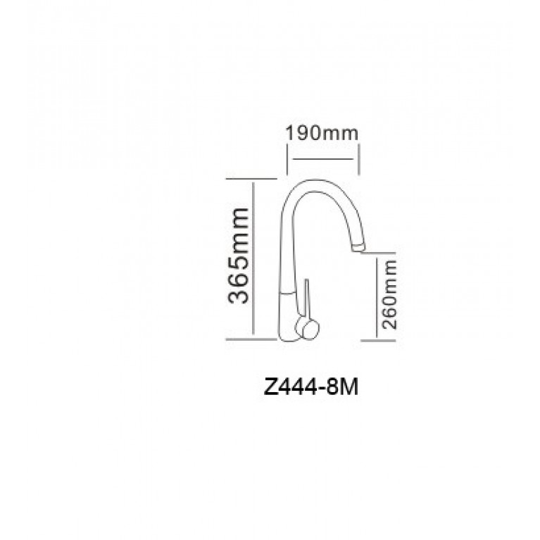 RAINBOW смеситель для кухни, хром 40мм RBZ444-8M