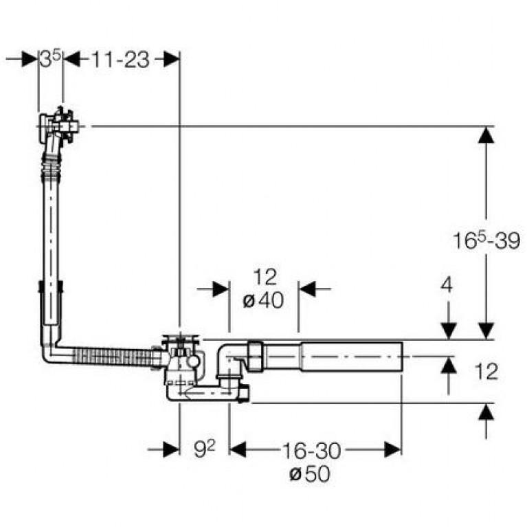COMFORT ванна прямоугольная 150*75 см в комплекте с сифоном Geberit 150.520.21.1, с ножками SN7 XWP305000G, фото 3