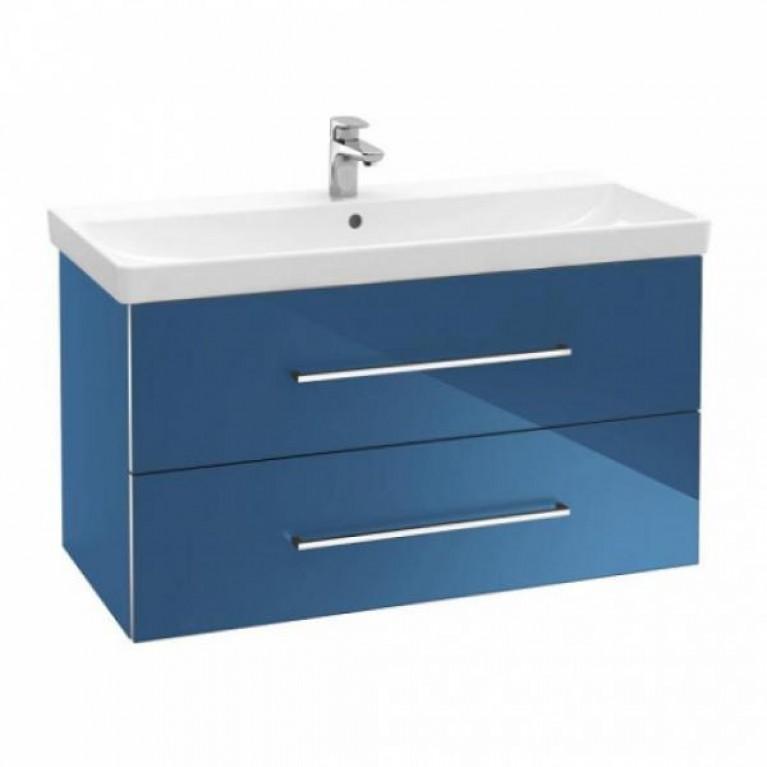 AVENTO тумба 76*52*44,7см, под раковину, подвесная, цвет Crystal Blue, фото 1