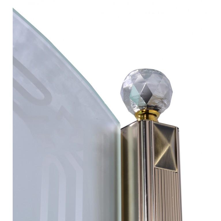 GRAND TENERIFE Bronze Кабина пятиугольная с распашной дверью, в бронзе, без поддона 900*900*2000мм 10-22-165 Bronze, фото 3