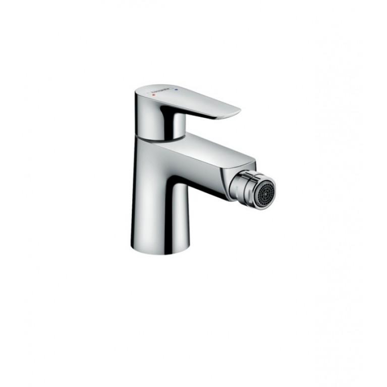 Talis E Смеситель для биде, однорычажный, со сливным клапаном push-open, хром
