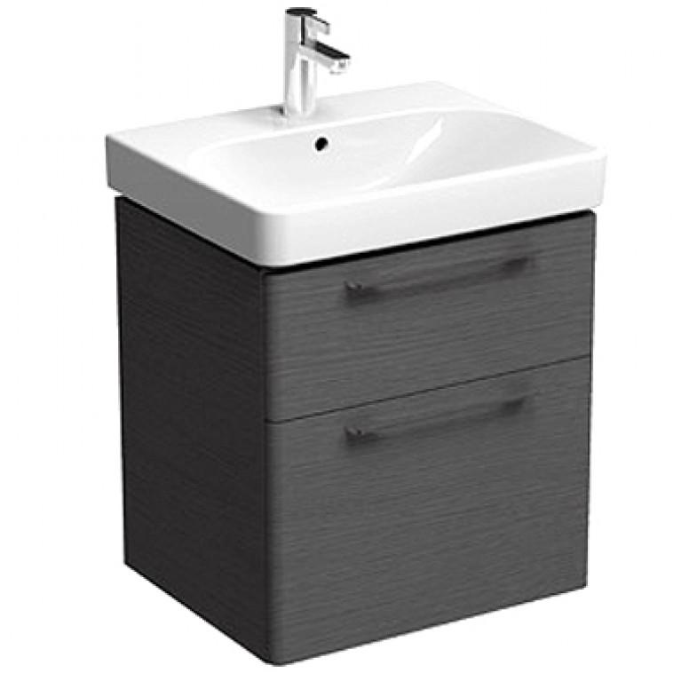 TRAFFIC шкафчик под умывальник 60см с двумя ящиками, серый дуб, фото 1