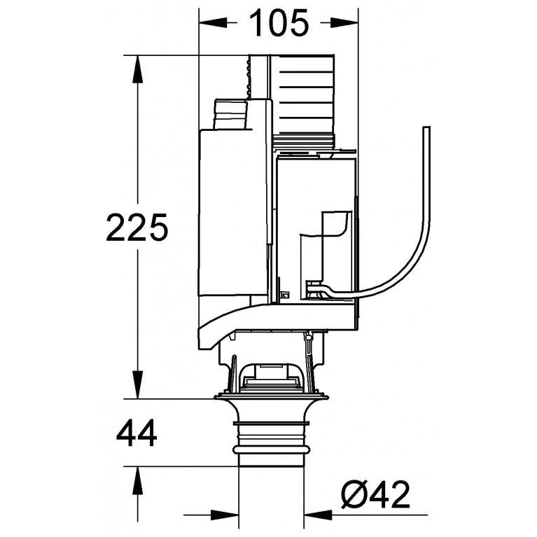 Смывной клапан для инсталляции Grohe Rapid SL 42314000, фото 2