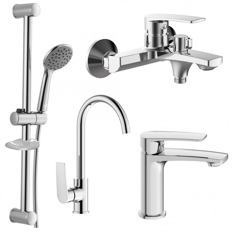 KAMPA 2 набор смесителей (4 в 1) для ванны и кухни