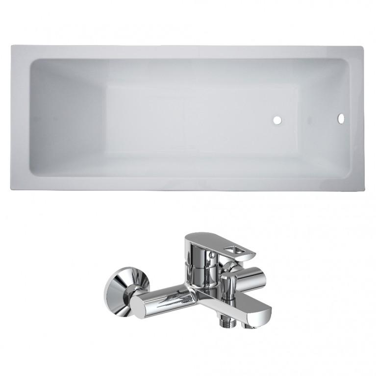 Комплект: LIBRА ванна 150*70*45,8см без ножек + BЕNITA смеситель для ванны, хром 35мм