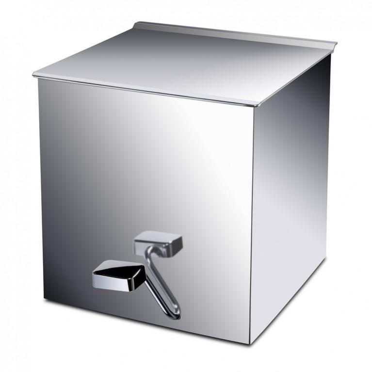 Box ведро мусорное с плавным опускание, 90x225x220h, хром