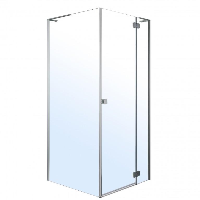 BENITA Right душ кабина квадратная 900*900*1950 мм (стекло,дверь, комплектация), распашная, хром, прозрачное