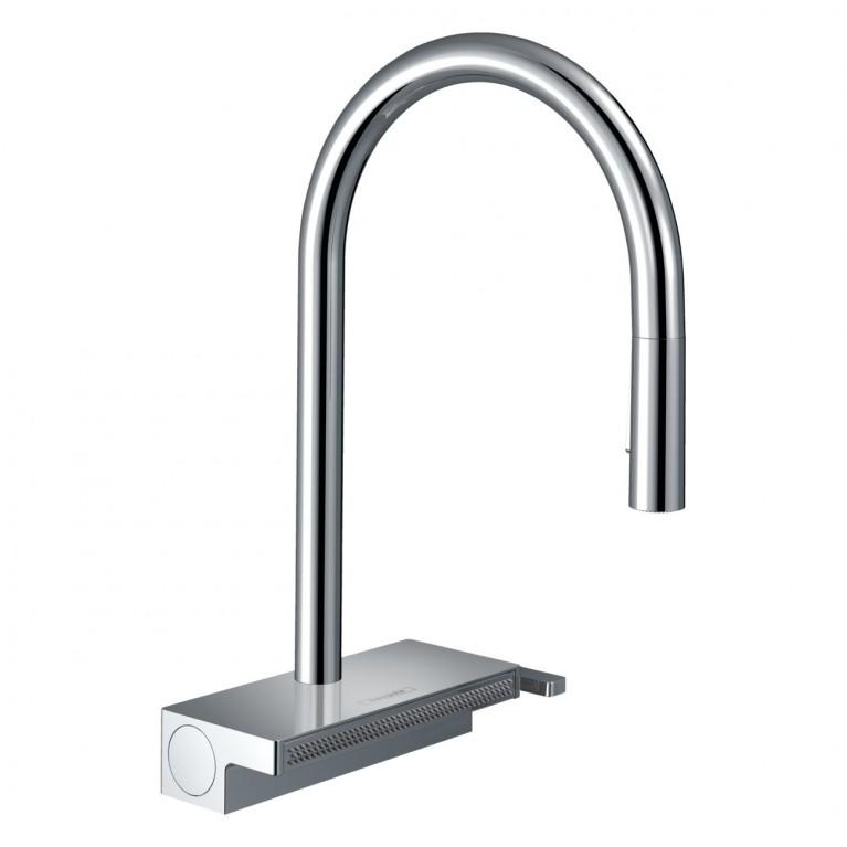 AQUNO SELECT M81 смеситель для кухни 170, однорычажный, с выдвижным душем, 3jеt, sBоx, хром