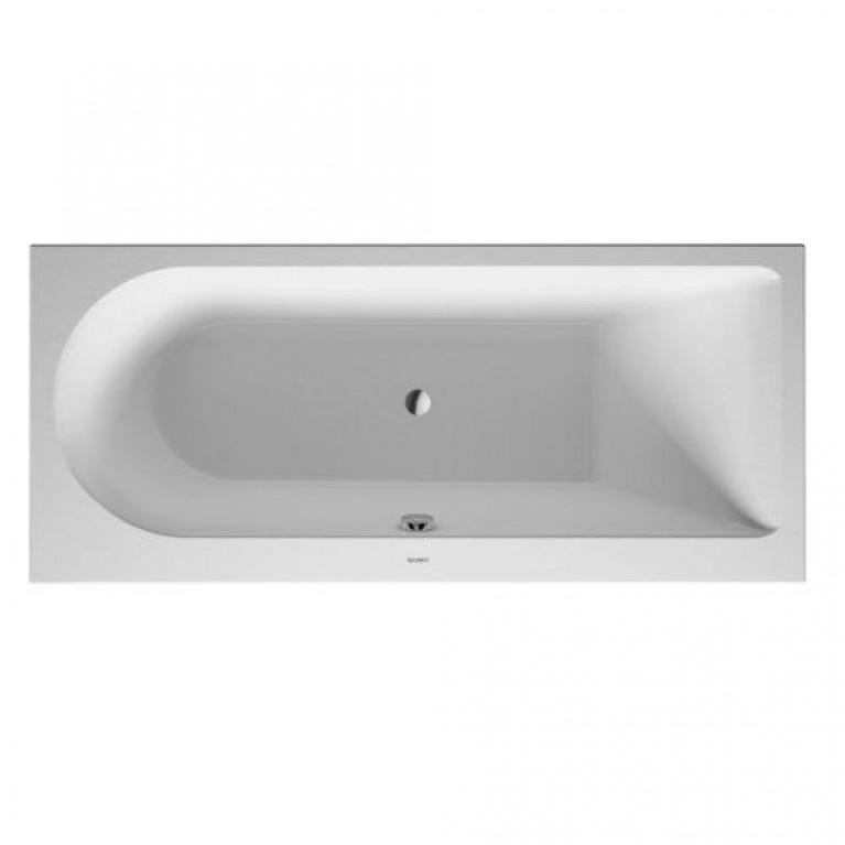 DARLING NEW ванна 160*70*46см, прямоугольная, встраиваемая версия или версия с панелями, с наклоном для спины справа, фото 1