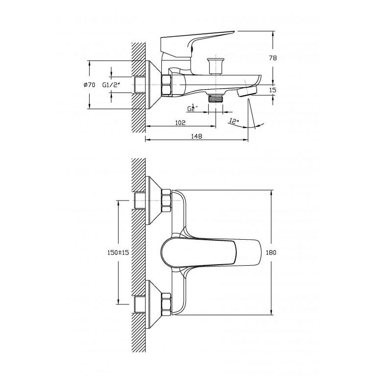 Набор смесителей для ванны (3 в 1) kit20080 kit20080, фото 3