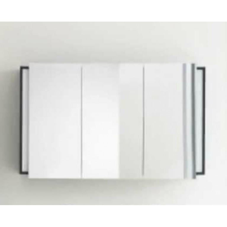 KETHO зеркальный шкафчик 120*75см (цвет базальт матовый)
