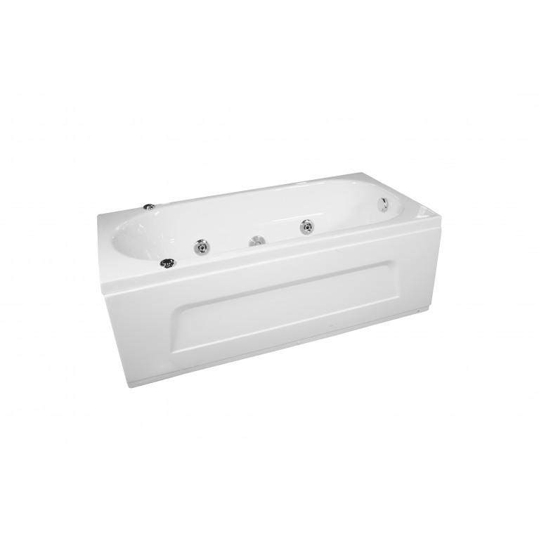 Ванна прямоугольная с гидромассажем и пневмокнопкой 1700*750*550 мм