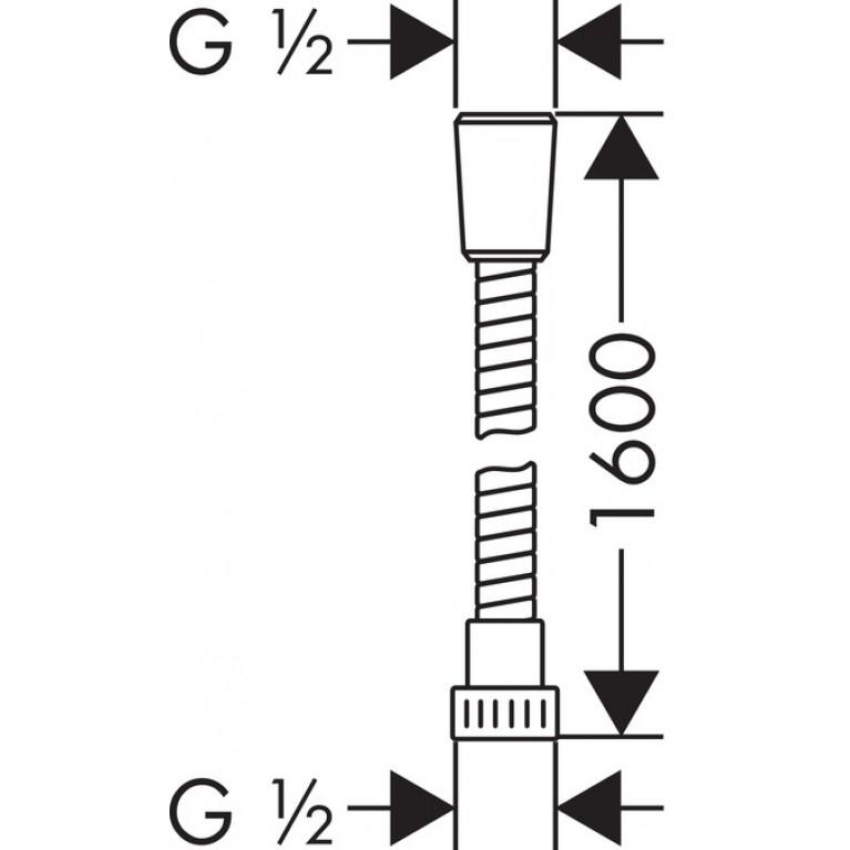Croma Select E Multi Ручной душ, цв белый/хром + Metaflex``C Шланг душевой 1.60 м 26810400+28266000, фото 4