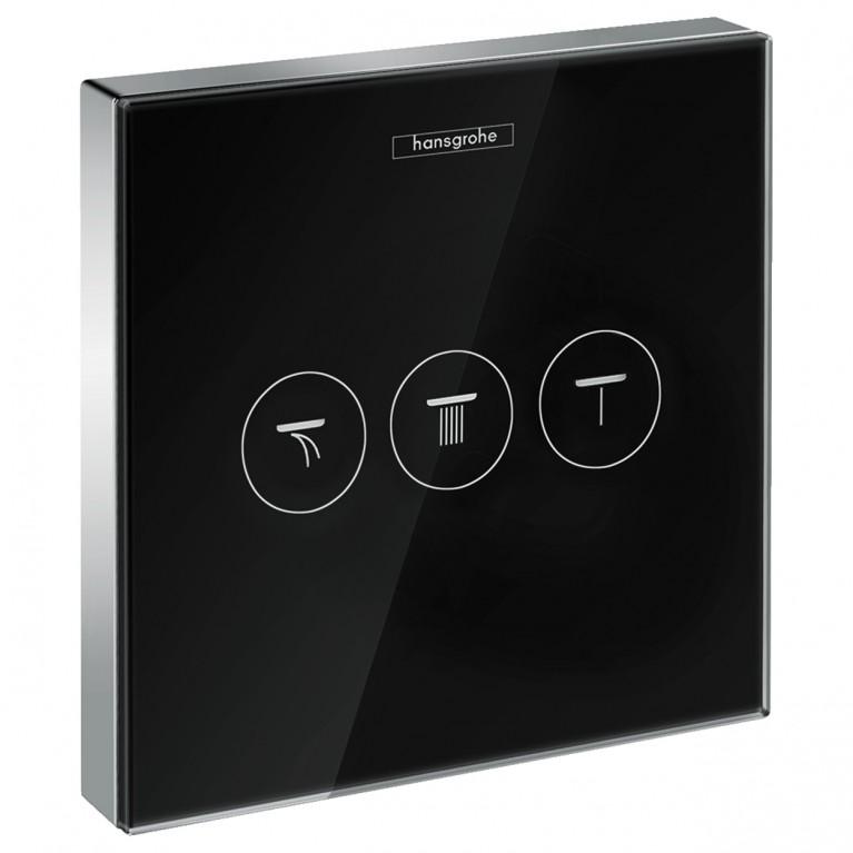 ShowerSelect Модуль с тремя запорными клапанами, стеклянный, черный/хром, фото 1