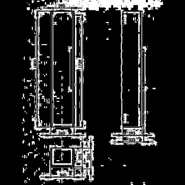 TRAFFIC шкафчик боковой высокий 36*180*29,5 см,белый глянец (пол.) 88419000, фото 3
