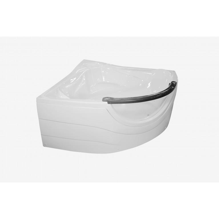 Ванна угловая без гидромассажа 1520*1520*710мм, (рама + ножки + лицевая панель), с окошком