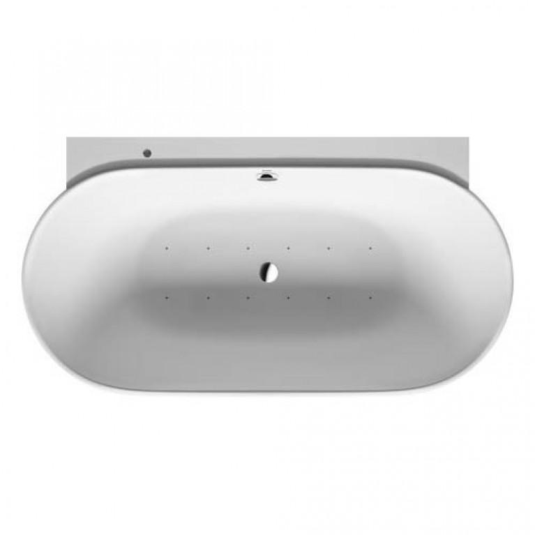 LUV ванна 180*95см, с бесшовной панелью и опорной рамой, со слив переливом, с системой аэромассажа