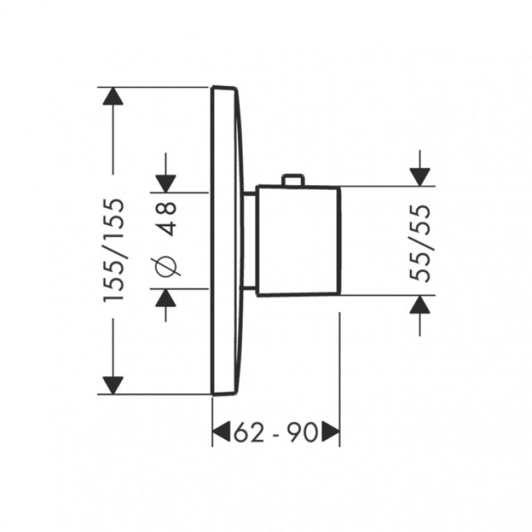 PuraVida Термостат для ванны (цв. Белый) 15772400, фото 2