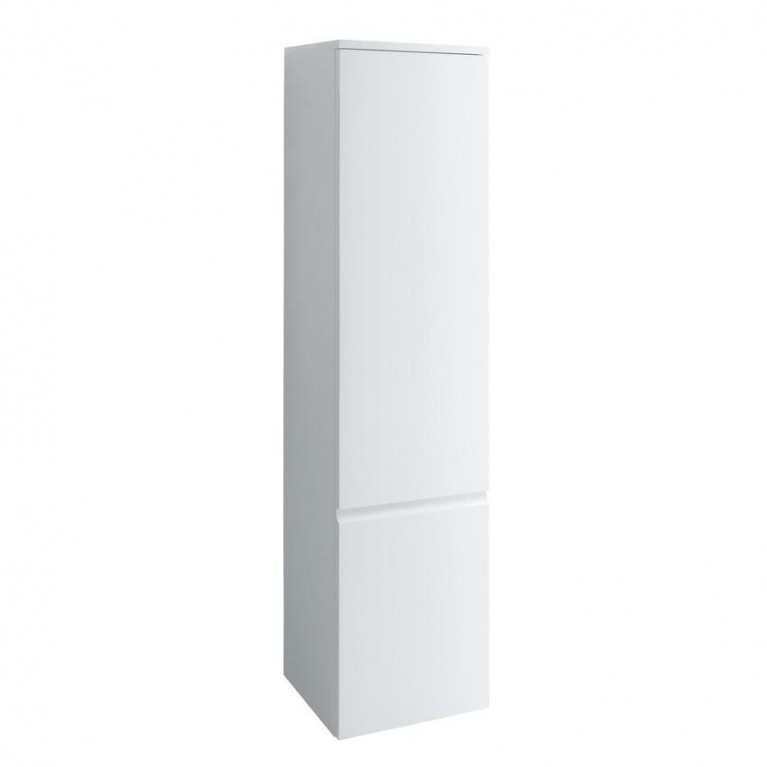 PRO S тумба 350*335*1650мм, высокая, подвесная, дверные петли справа, цвет белый глянец