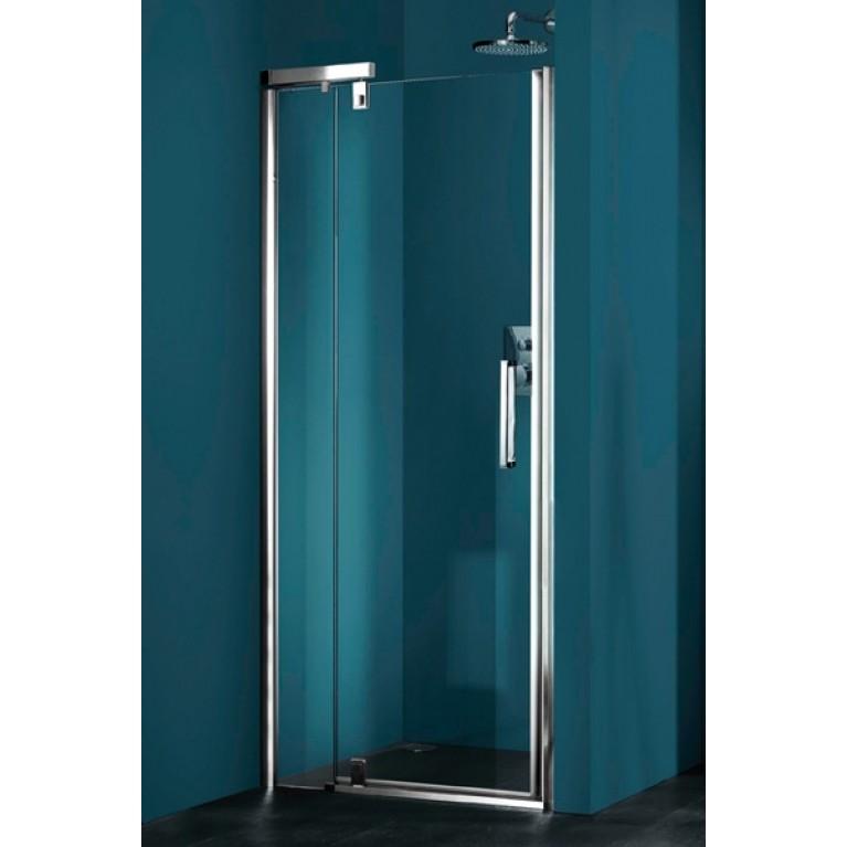 REFRESH PURE дверь распашная с неподвижным сегментом для ниши STN100 (проф гл хром, стекло прозр Anti plague)