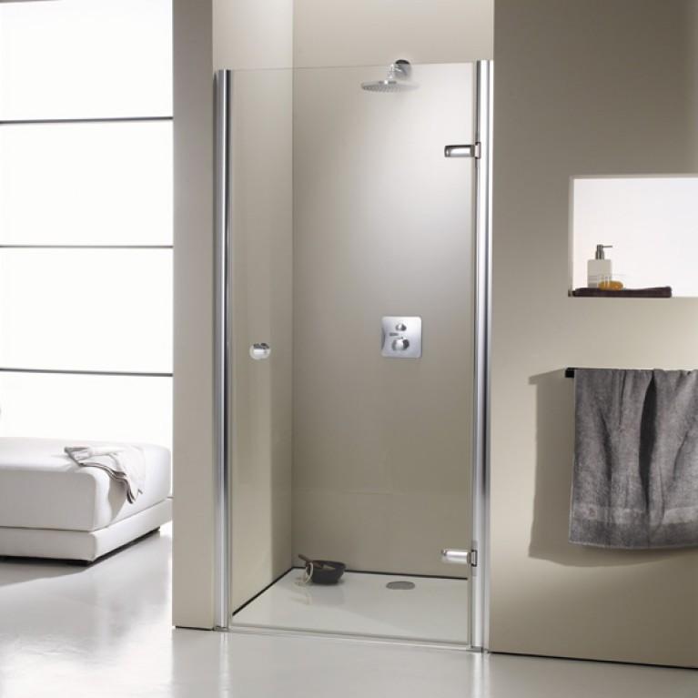 ENJOY ELEGANCE дверь распашная для ниши 90*200см (проф гл хром,стекло прозр), фото 1