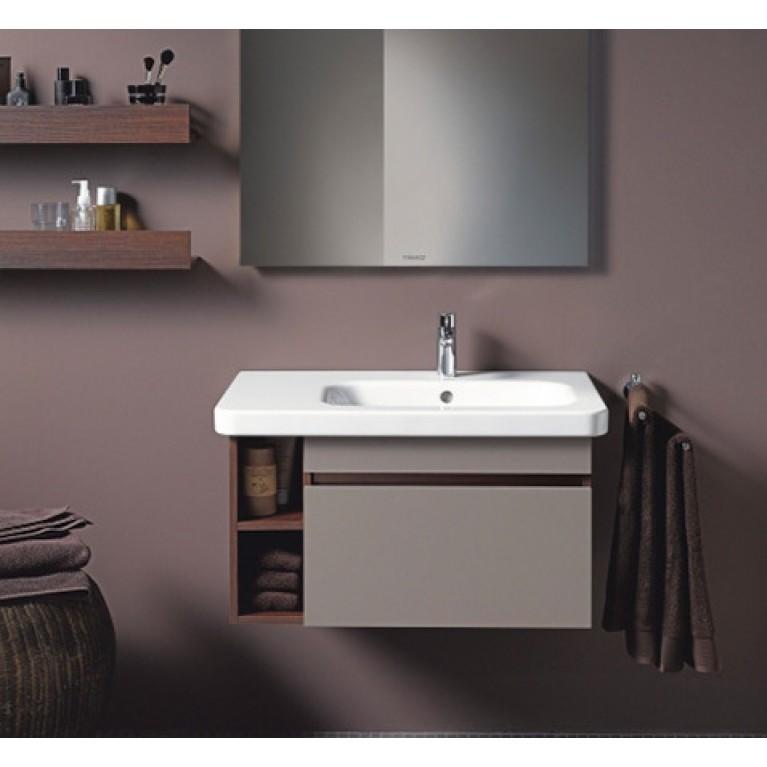 DURASTYLE умывальник 100*48см, для мебели, ассиметричный, с 1м отв. под смеситель, раковина справа, с переливом 2326100000, фото 3
