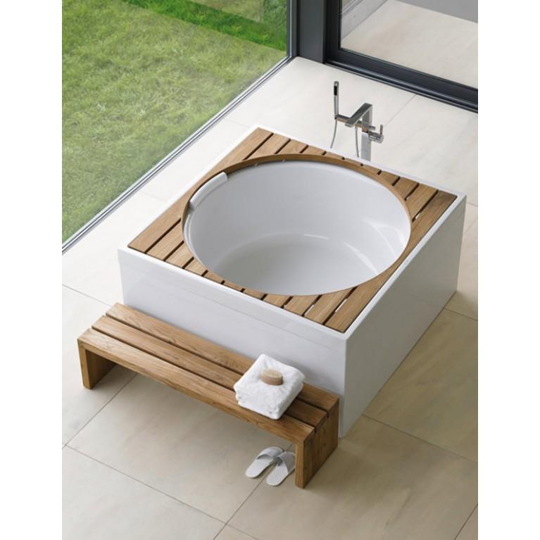 BLUE MOON  деревянная решетка для ванны, тик (нат.шпон), с крышкой, фото 3