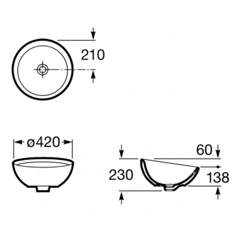 BOL умывальник d-42 см A327876000