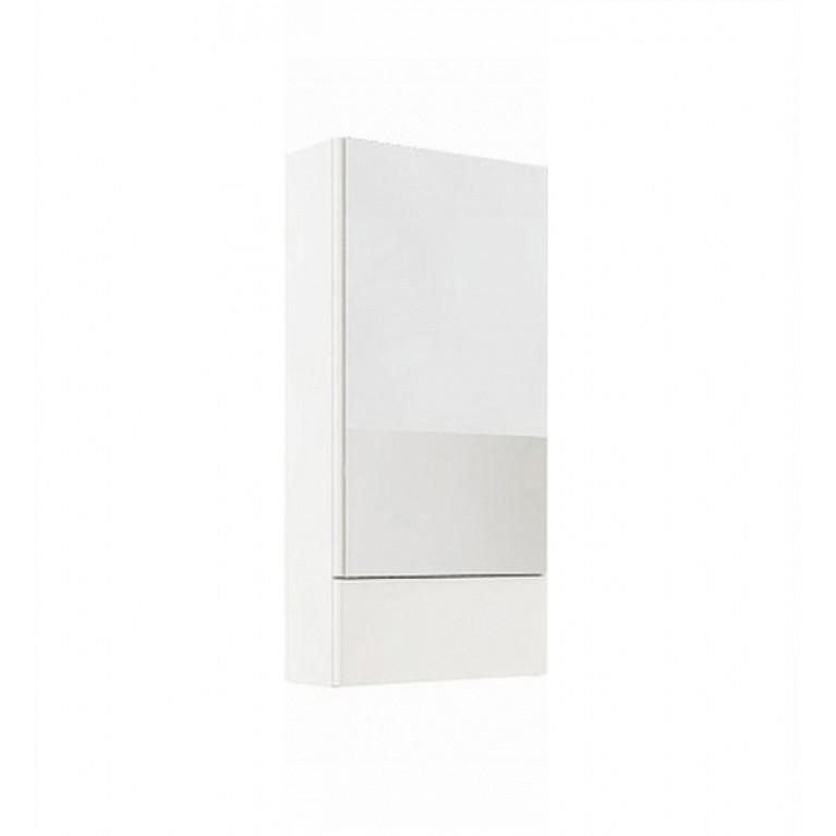 NOVA PRO шкафчик с зеркалом 50см белый глянец (пол)