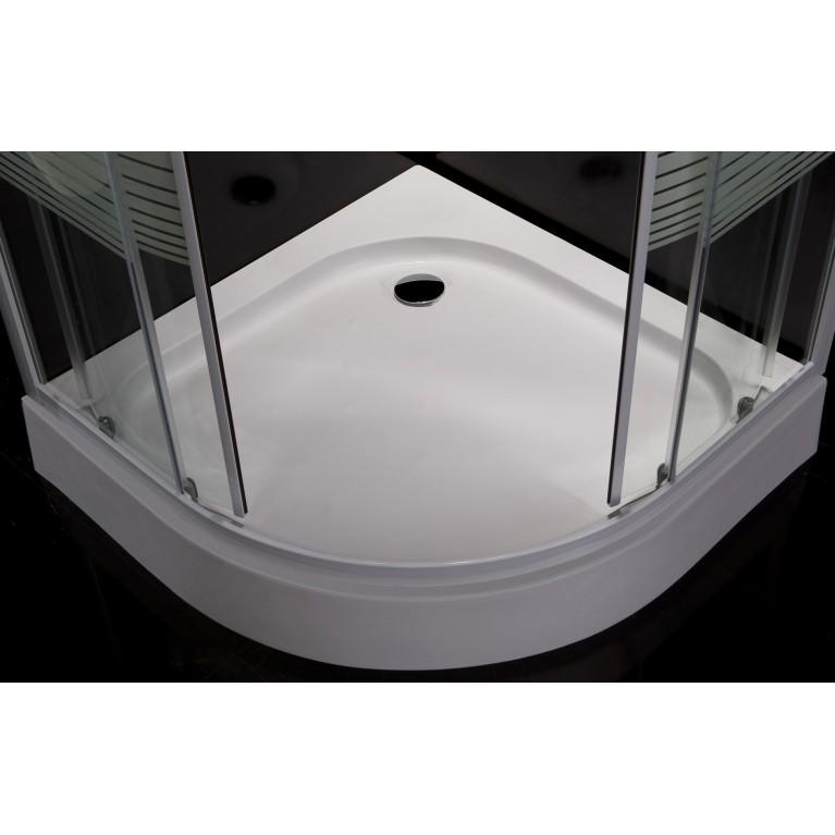 """TISZA MELY душевая кабина 90*90*200 см, на глубоком поддоне, профиль белый, стекло """"Zuzmara"""" 599-187, фото 8"""