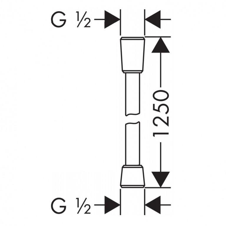 Comfortflex Шланг 1,25 м ½, хром 28167000, фото 2