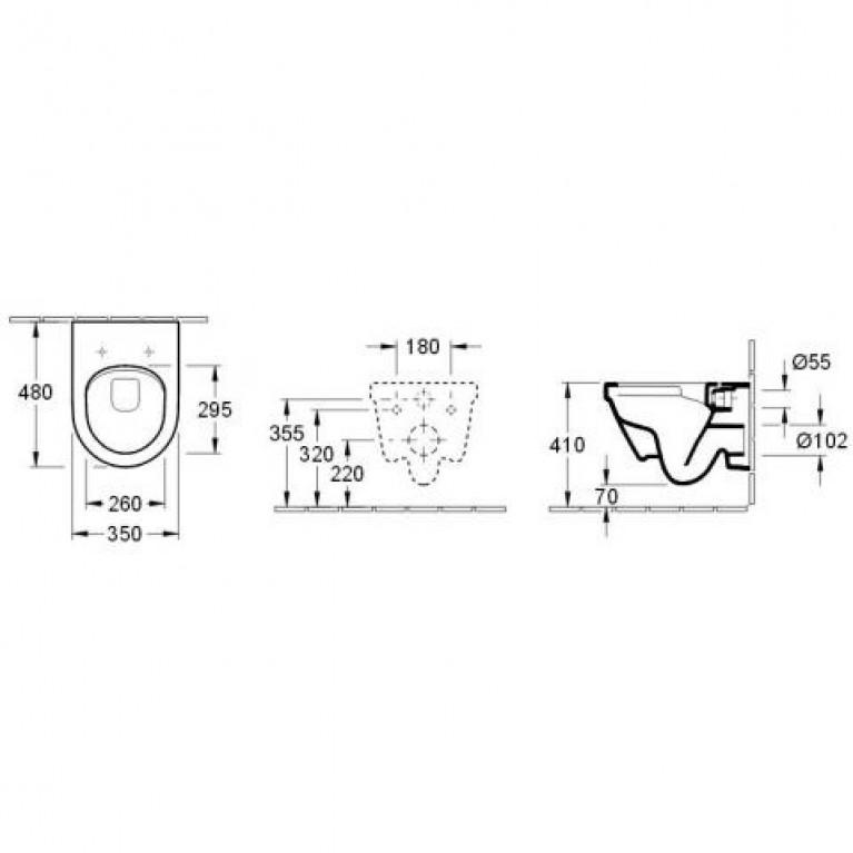 ARCHITECTURA унитаз 35*48см, с вертикальным смывом DirectFlush, с сидением для унитаза, Quick Release, Soft Closing 4687HR01, фото 2