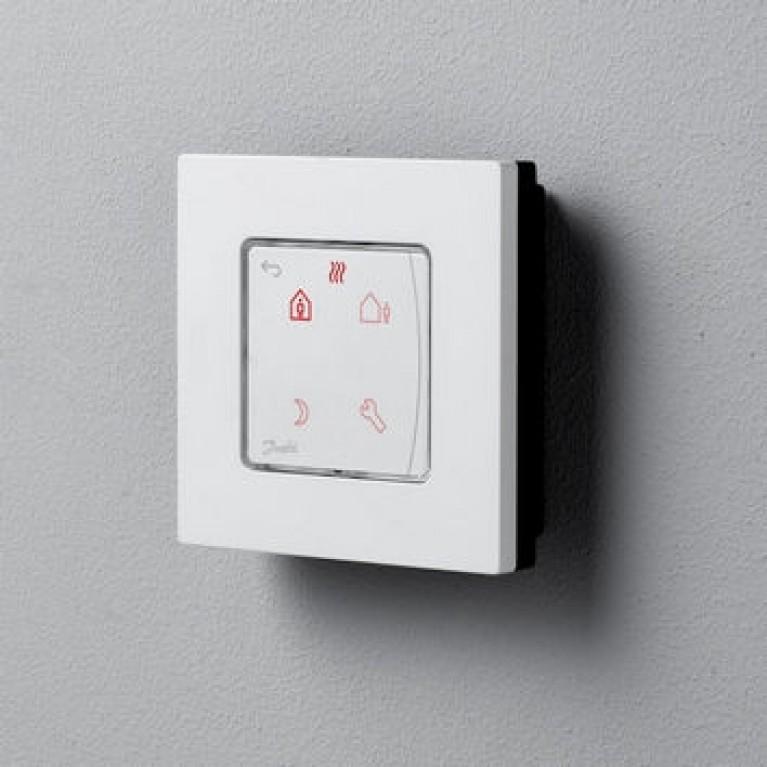 Danfoss Терморегулятор Icon Programm, электронный, сенсорный, программируемый, 230V, On-wall, белый 088U1025, фото 2