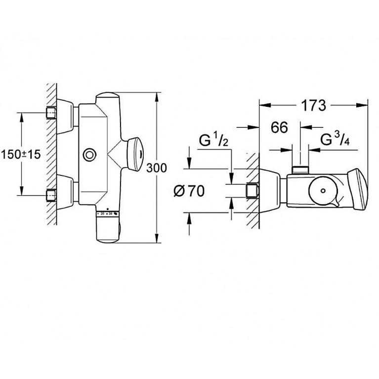 Eurodisc SE Термостат для душа, автоматический 36244000, фото 2