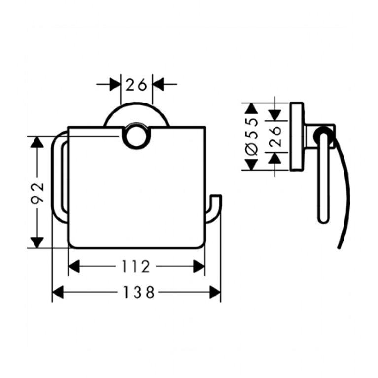Logis Набор аксессуаров: крючок двойной, диспенсер, держатель туалетной бумаги, стакан, туалетная щётка 41723111, фото 3