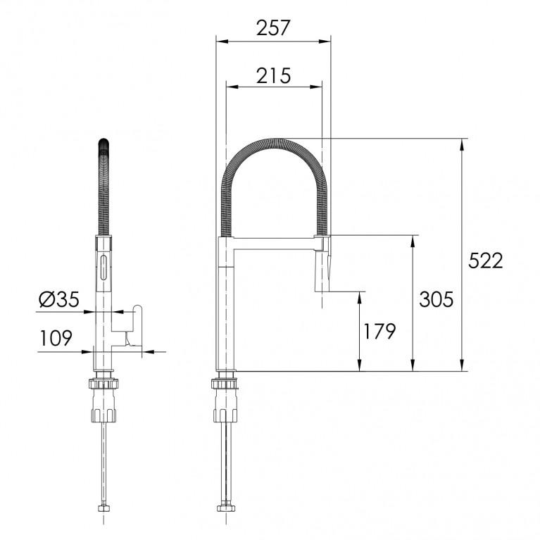 BOA SS смеситель для кухни, хром, 25 мм 55910, фото 2