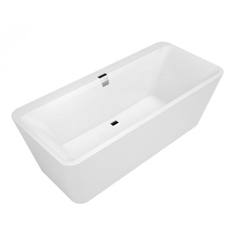 SQUARO EDGE 12 ванна 180*80см, отдельностоящая, с белой панелью