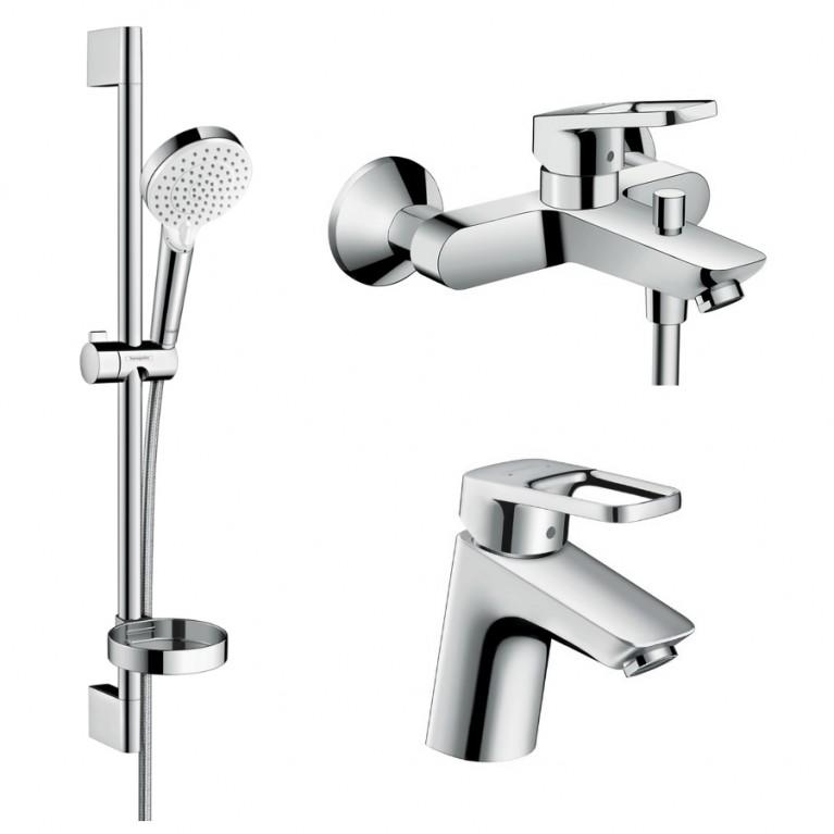 Logis Loop Набор смесителей для ванны, умывальник 70 (71150000+71244000+26553400), фото 1