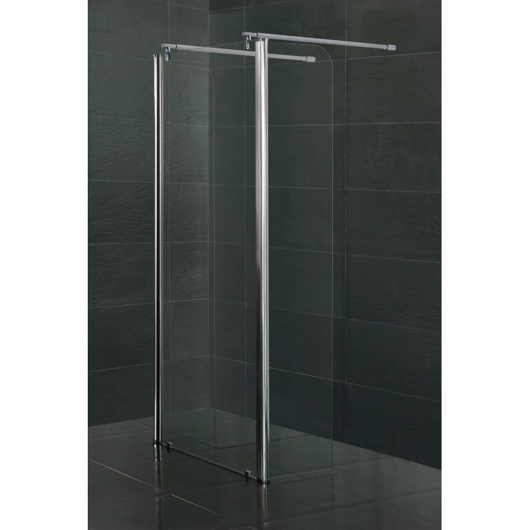 Стенка с подвижным профилем 350*1900 мм, каленое прозрачное стекло 8мм