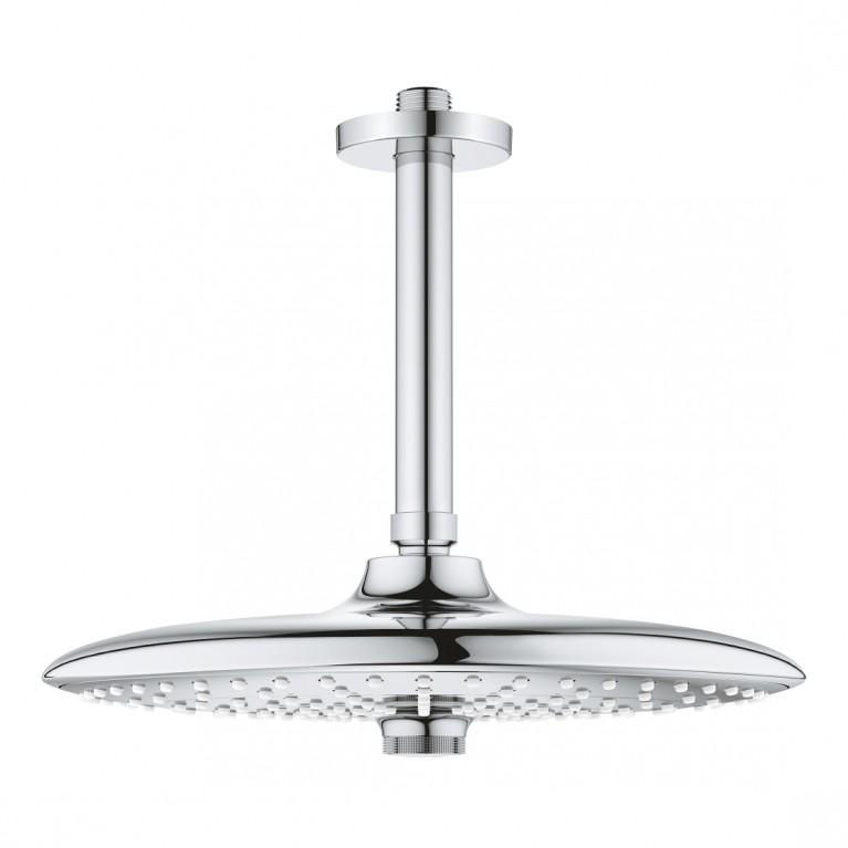 Euphoria 260 Верхний душ с потолочным душевым кронштейном 142 мм, 3 режима струи