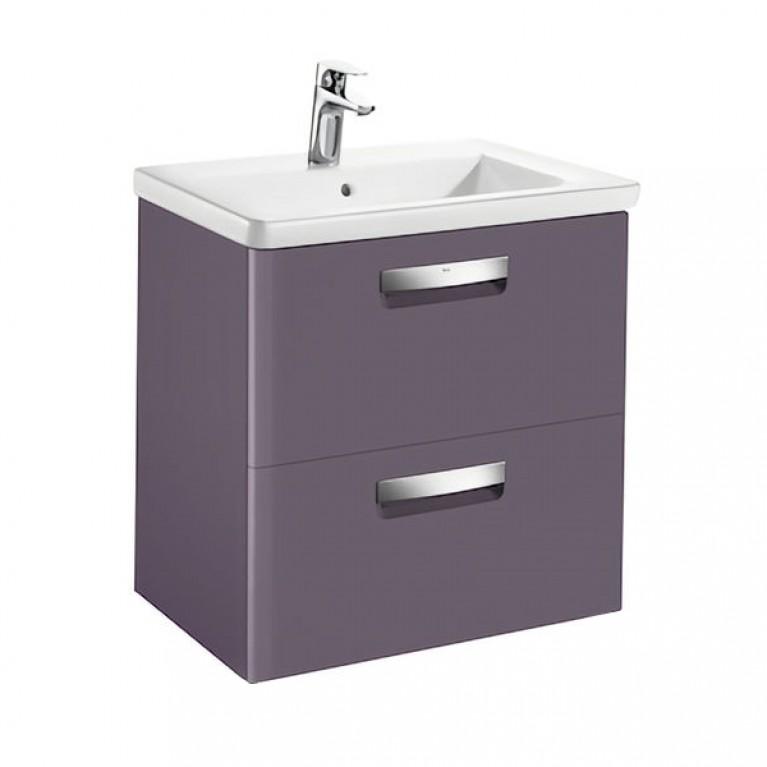 GAP тумба 600*440*645мм с раковиной, 2 выдв.ящика, цвет фиолетовый матовый, фото 1
