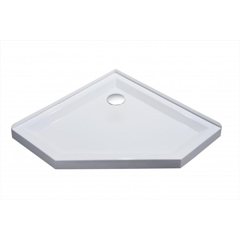 STEFANI Поддон пятиугольный 1000*1000*40мм, акриловый с сифоном