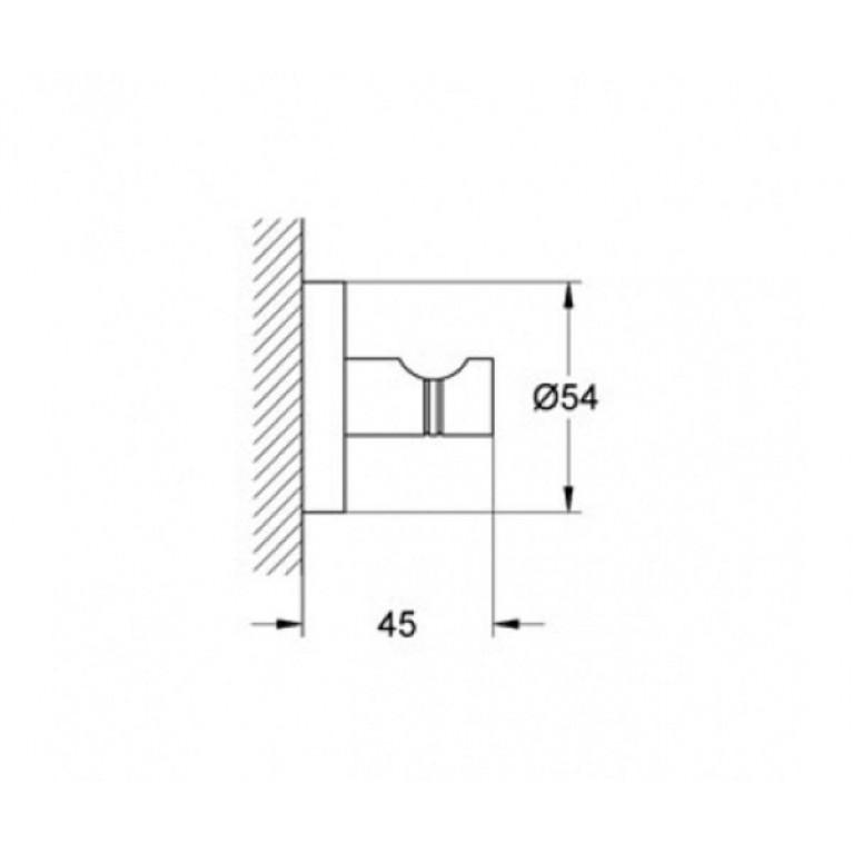 Essentials Крючок для банного халата 40364001, фото 2